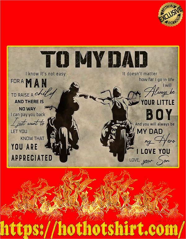 To my dad son biker poster