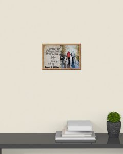 I want to hold your hand at 80 and say baby let's go fishing poster