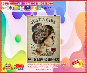 Poster Just a girl who loves books