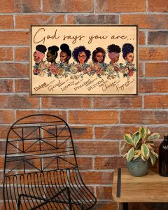 Poster Black girl god says you are