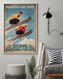 Poster Husband and wife skiing partners for life