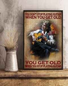 Poster You don't stop playing guitar when you get old