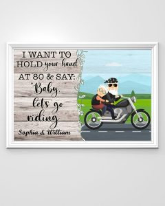 Poster Biker I want to hold your hand and say let's go riding