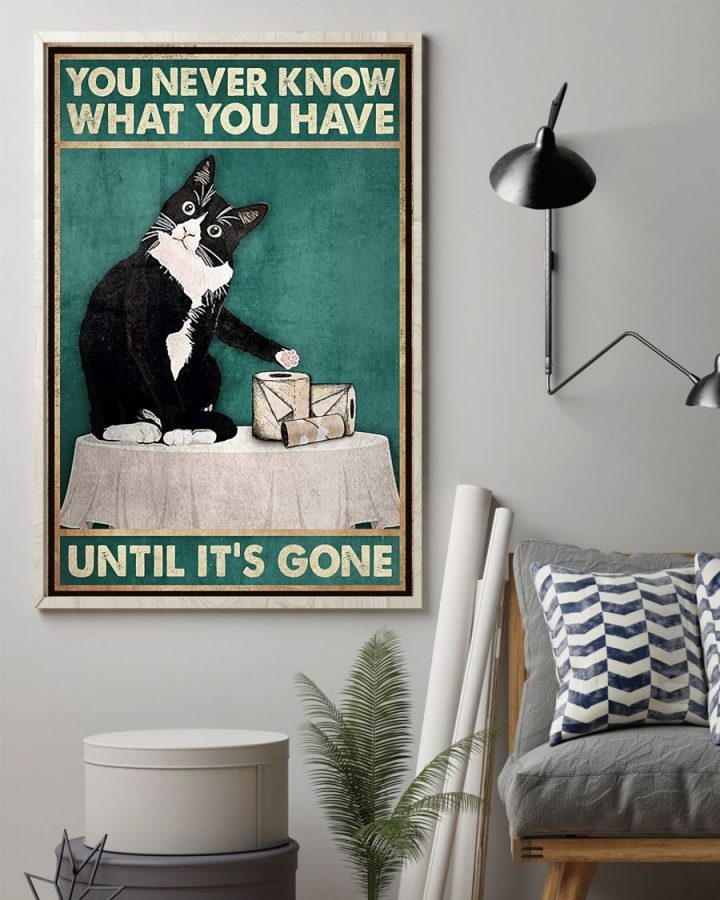 Poster Cat You never know what you have until it's gone