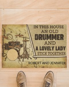 Drummer and a lovely lady doormat