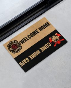 Fire DEPT welcome home come home safe doormat 2