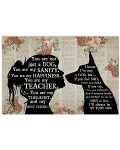 German shepherd girl therapist you are not just a cat best friend poster 4