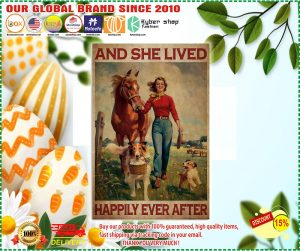 Poster Girl with horse and dog and she lived happily ever after
