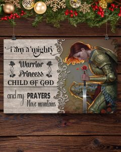 I am a mighty warrior princess child of god poster 2