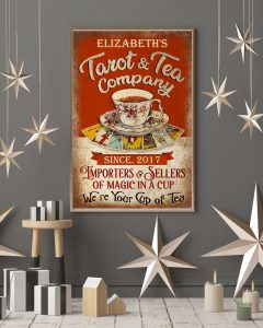 Poster Personalized Tarot and tea company importers and sellers of magic in a cup