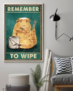 Poster Guinea pig remember to wipe