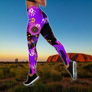 Aboriginal naidoc purple turtle lizard bedding set