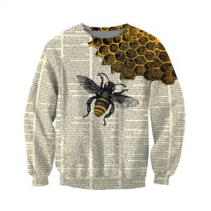 Bee dictionary 3D over print hoodie 3