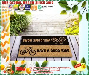 Bicycle welcome home have a good ride doormat 3