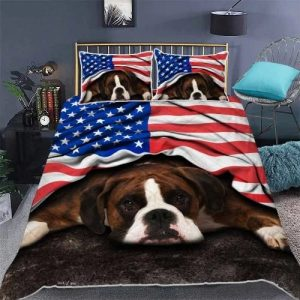 Boxer American patriot bedding set 3