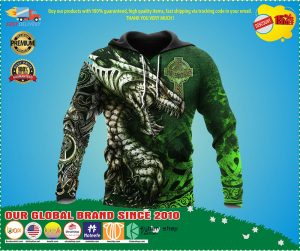 Celtic dragon tattoo 3D over print hoodie