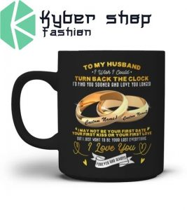 Couplerings To my husband turn back the clock I love you custom name mug