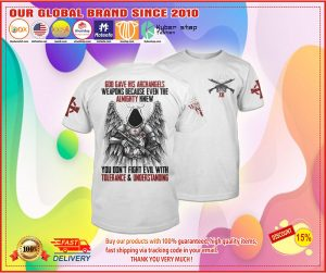 God gave his archangels weapons because wven the almighty knew T-shirt 1