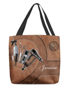 Hairstylist Tools tote bag Custom Text