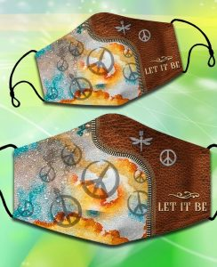 Hippie Peace Let it be facemask