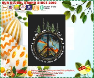 Hippie peace and into the forest I go stickers 2