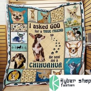 I asked god for a true friend so he sent me a chihuahua blanket