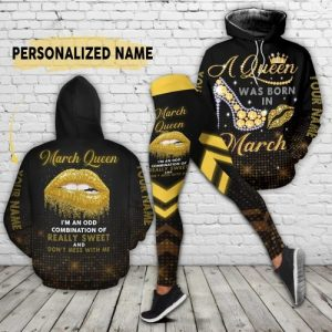 March queen custom name 3D hoodie and legging