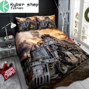 Old railroad bedding set