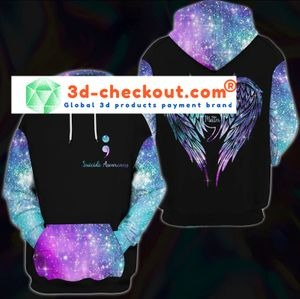 Suicide awareness you matter 3D over print hoodie 1