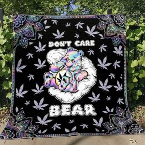 Weed don't care bear blanket