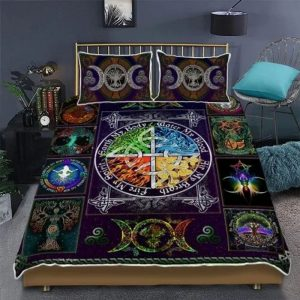 Wiccan witch pagan bedding set 1