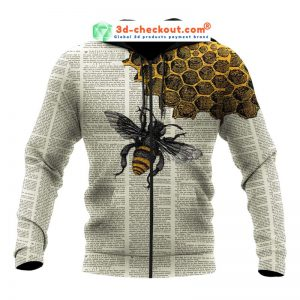 Bee dictionary page 3D hoodie