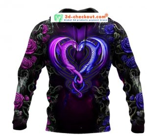 Dragon couples 3D Over print hoodie