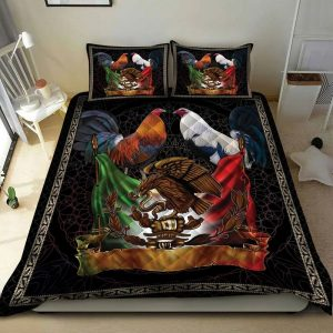 Gamefowl Roaster Coat of arms of Mexico bedding set
