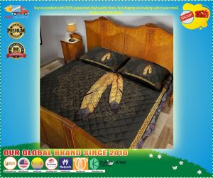 Native American Indian feathers quilt bedding set 3