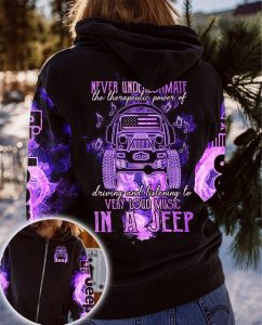 Never underestimate the therapeulic power of in a jeep 3D hoodie
