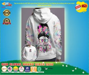 Skull coloful one loved mama 3D hoodie 2