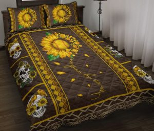 Soflball sunflower quilt bedding set
