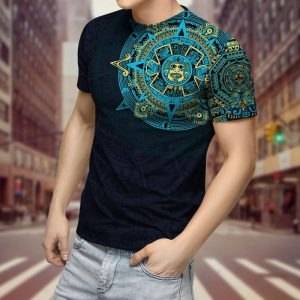 Aztec Mexico 3D over print hoodie and shirt
