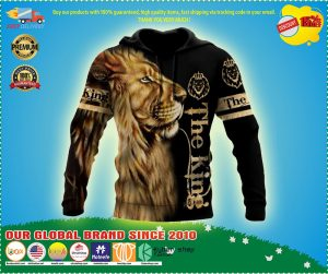 Lion the king 3D over print hoodie 3