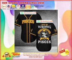 Pisces I may be wrong but I highly doubt it Baseball Jersey1