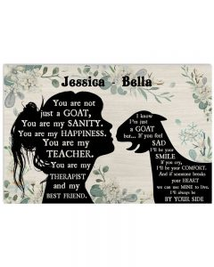 You are not just a Goat custom name poster